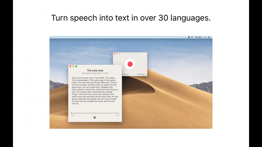 Just Press Record for Mac - review, screenshots