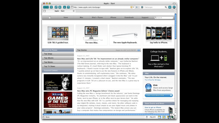 Netscape Navigator for Mac - review, screenshots