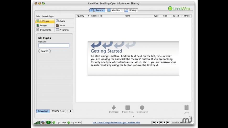 LIMEWIRE POUR OS TÉLÉCHARGER X 10.5.8 MAC