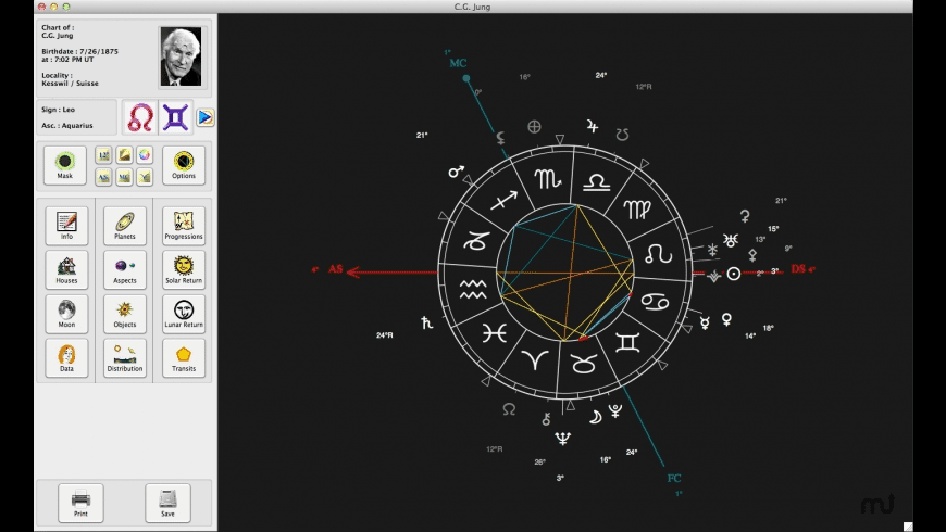 L'Astrologue for Mac - review, screenshots