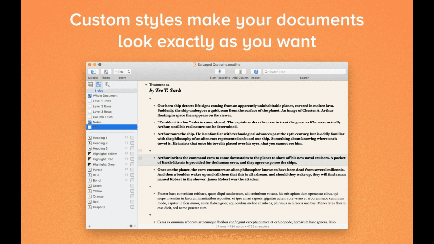 OmniOutliner Essentials for Mac - review, screenshots