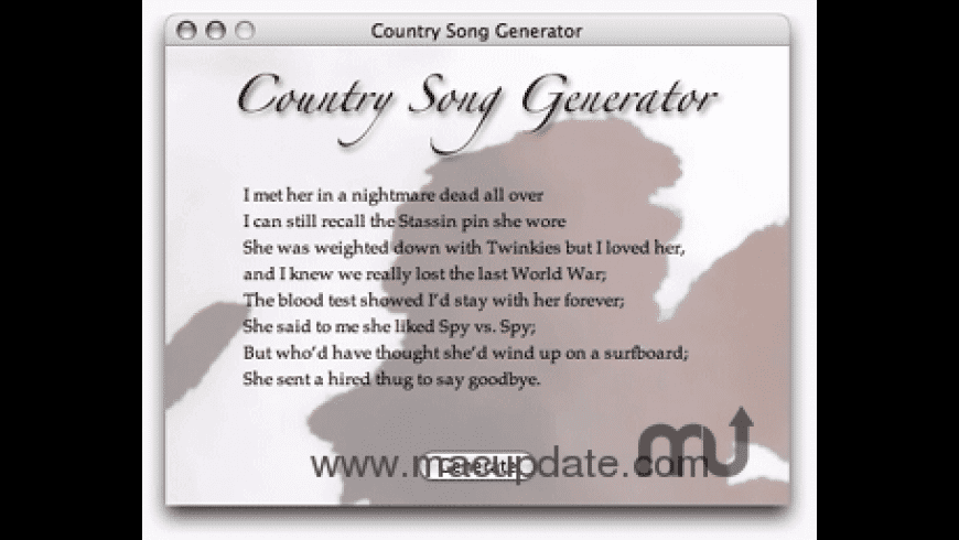 Country Song Generator for Mac - review, screenshots