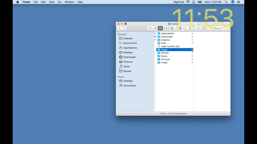 Big Clock for Mac - review, screenshots