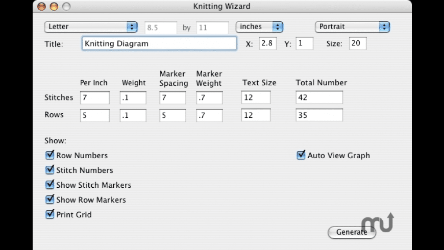 Knitting Wizard for Mac - review, screenshots