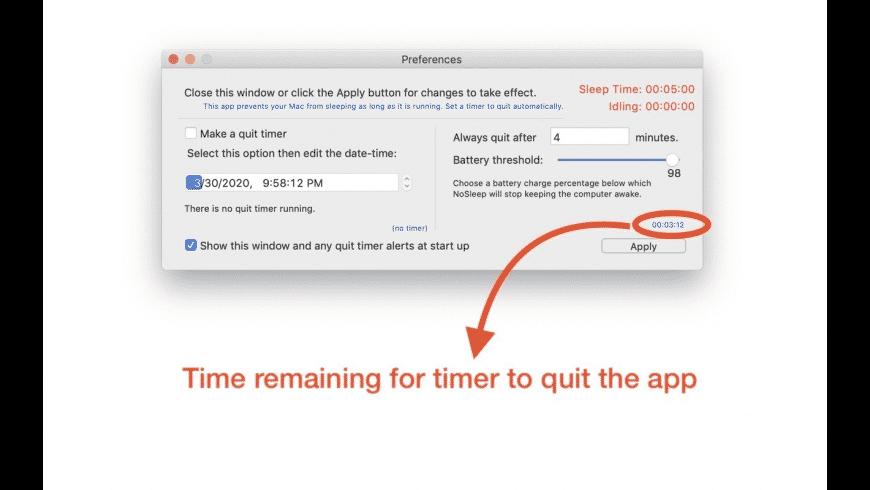 NoSleep for Mac - review, screenshots