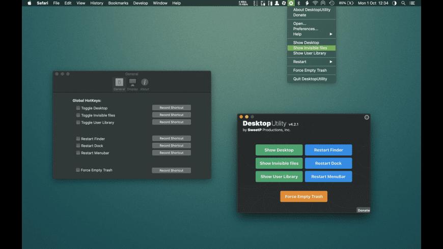 DesktopUtility for Mac - review, screenshots