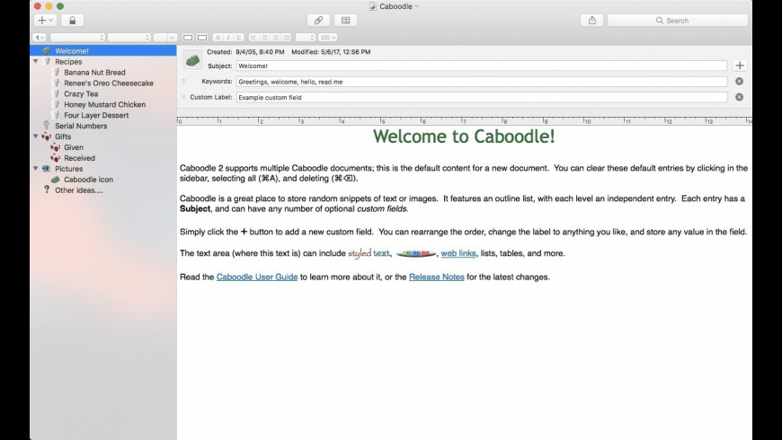 Caboodle for Mac - review, screenshots