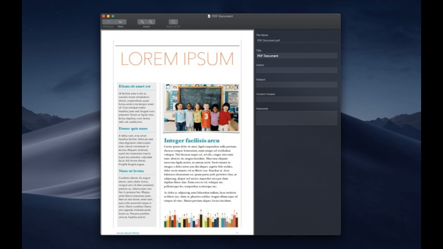 PDF Attributes for Mac - review, screenshots