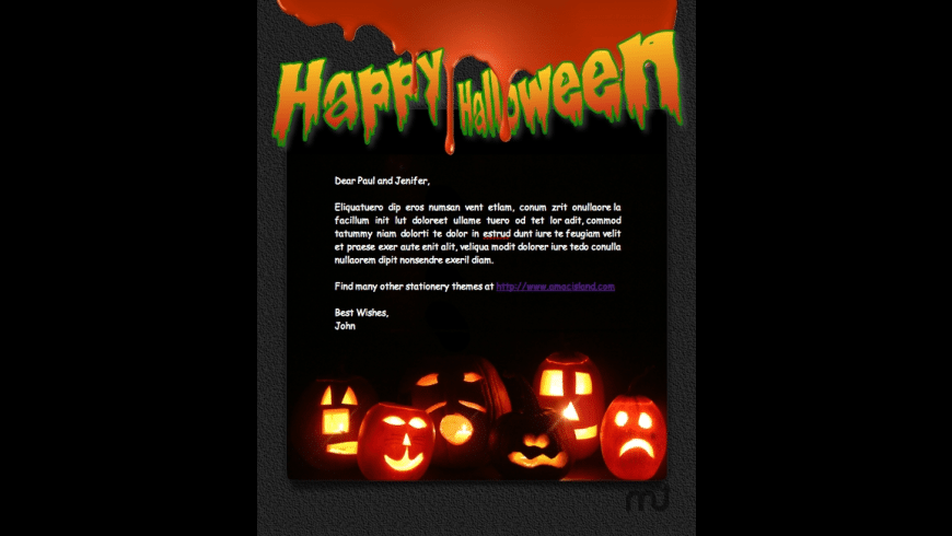 Mail Stationery Pack - Halloween 2010 for Mac - review, screenshots