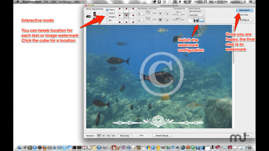 Dropwatermark for Mac - review, screenshots