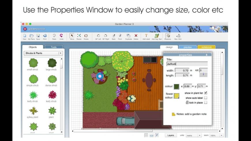 Garden Planner for Mac - review, screenshots