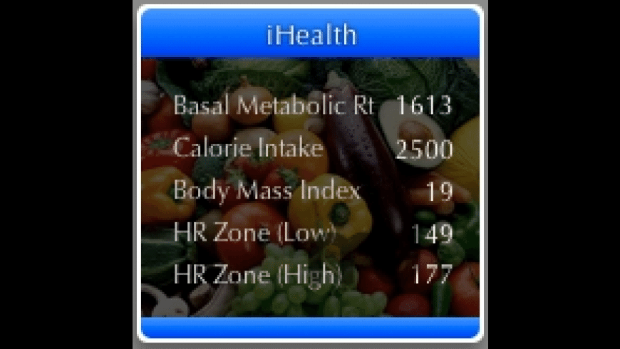 iHealth for Mac - review, screenshots