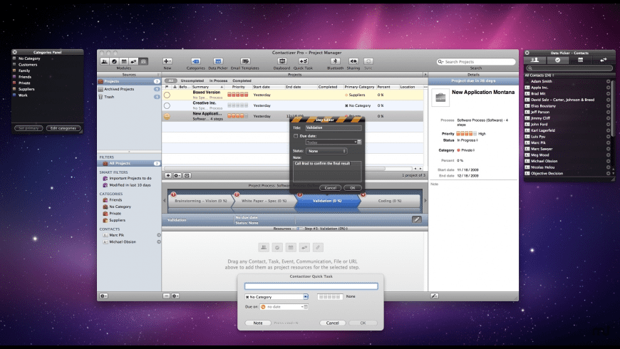 Contactizer Pro for Mac - review, screenshots