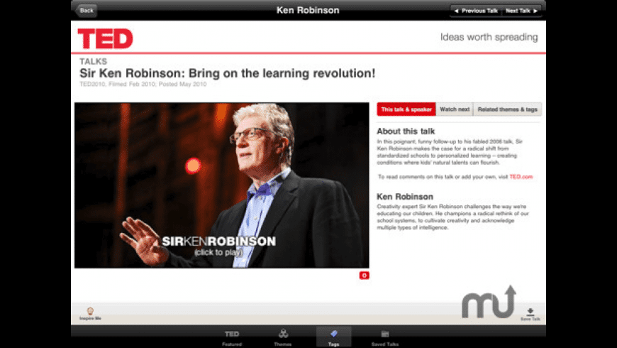 TED for iPad for Mac - review, screenshots