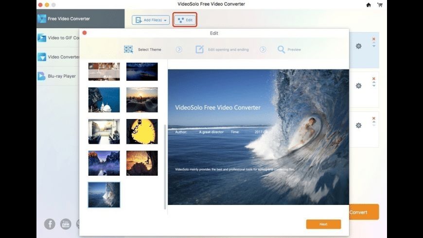 VideoSolo Video Converter for Mac - review, screenshots