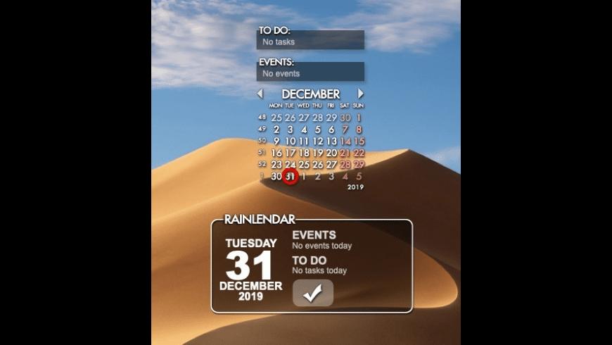 Rainlendar Lite for Mac - review, screenshots