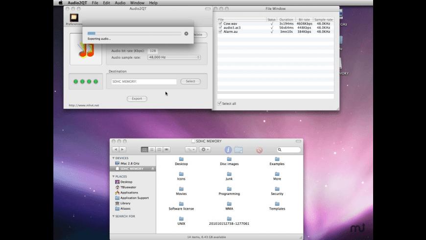 Audio2QT for Mac - review, screenshots