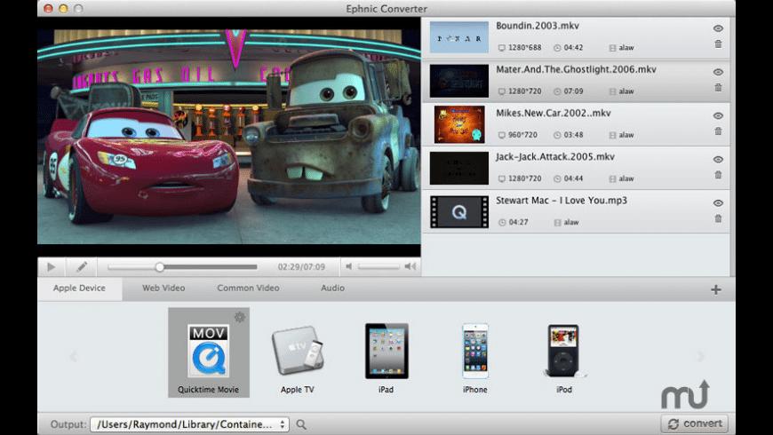 Ephnic Video Converter for Mac - review, screenshots