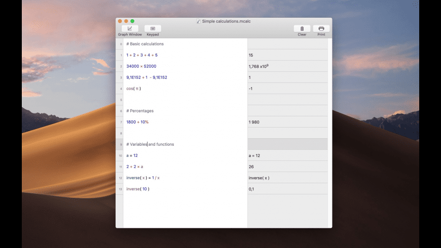 Magic Calculator for Mac - review, screenshots