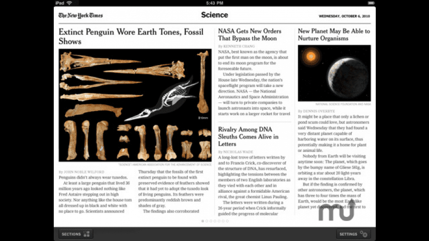 NYTimes for iPad for Mac - review, screenshots