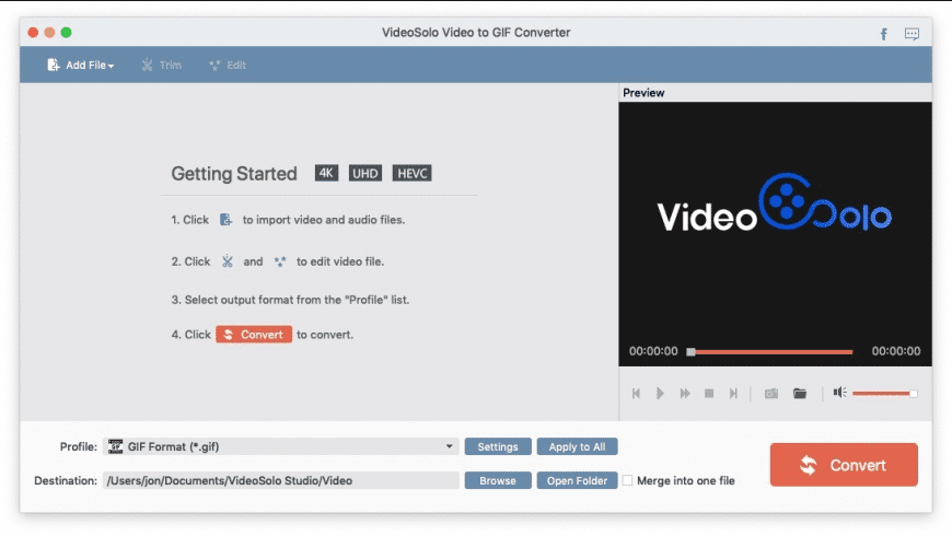 Video to GIF Converter for Mac - review, screenshots