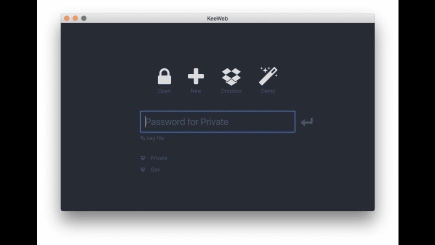 KeeWeb for Mac - review, screenshots