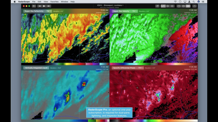 RadarScope for Mac - review, screenshots