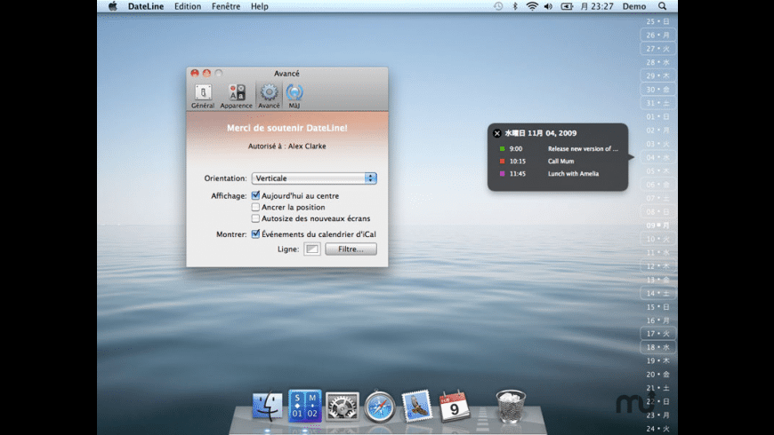 DateLine for Mac - review, screenshots