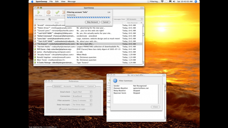 SpamSweep for Mac - review, screenshots