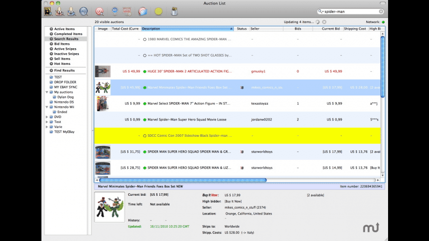 Auction Hunter for Mac - review, screenshots