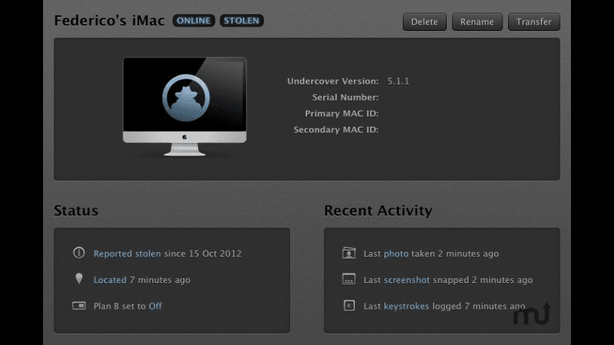 Undercover for Mac - review, screenshots