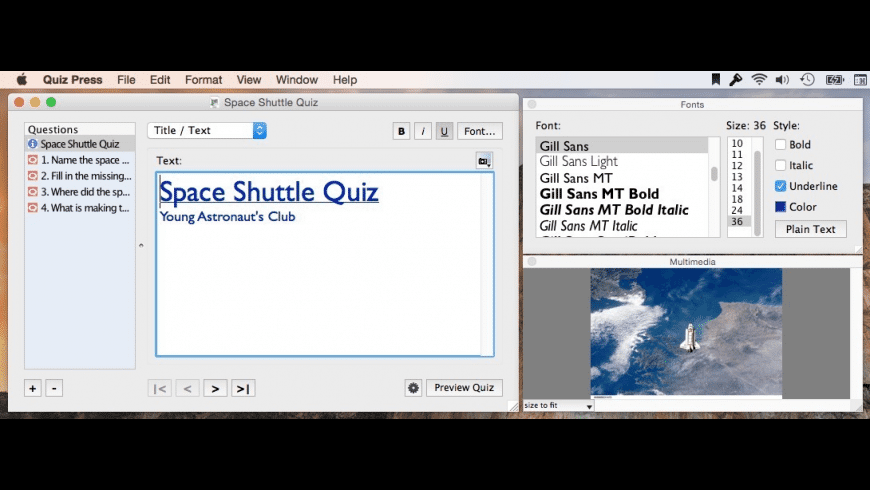 Quiz Press for Mac - review, screenshots