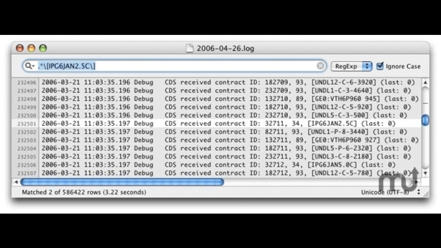 Grep for Mac - review, screenshots