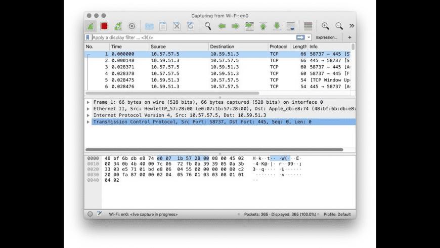 Wireshark for Mac - review, screenshots