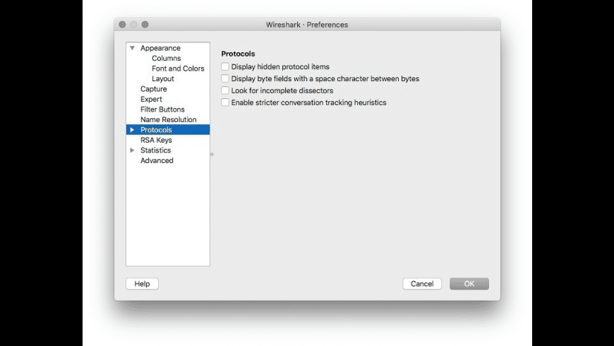 Wireshark for Mac - review, screenshots