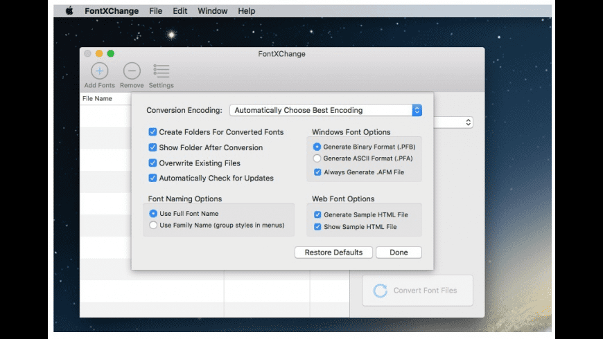 FontXChange for Mac - review, screenshots