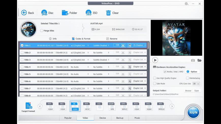 VideoProc for Mac - review, screenshots