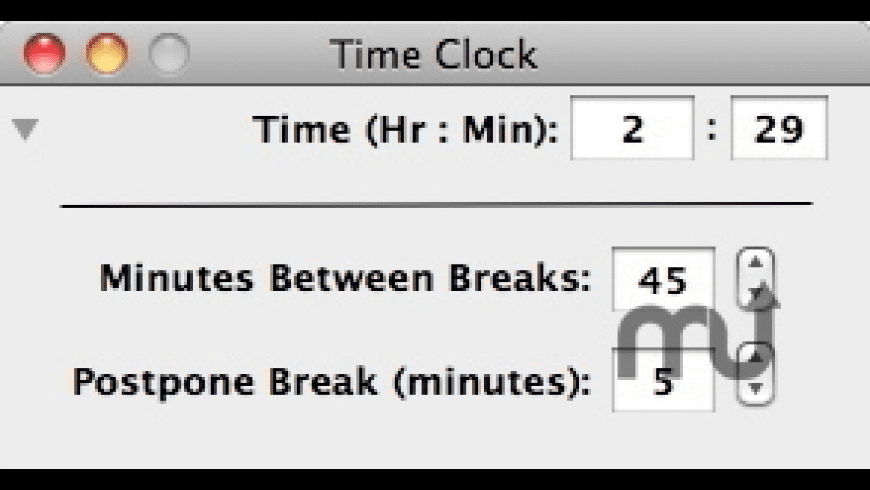 Time Clock for Mac - review, screenshots