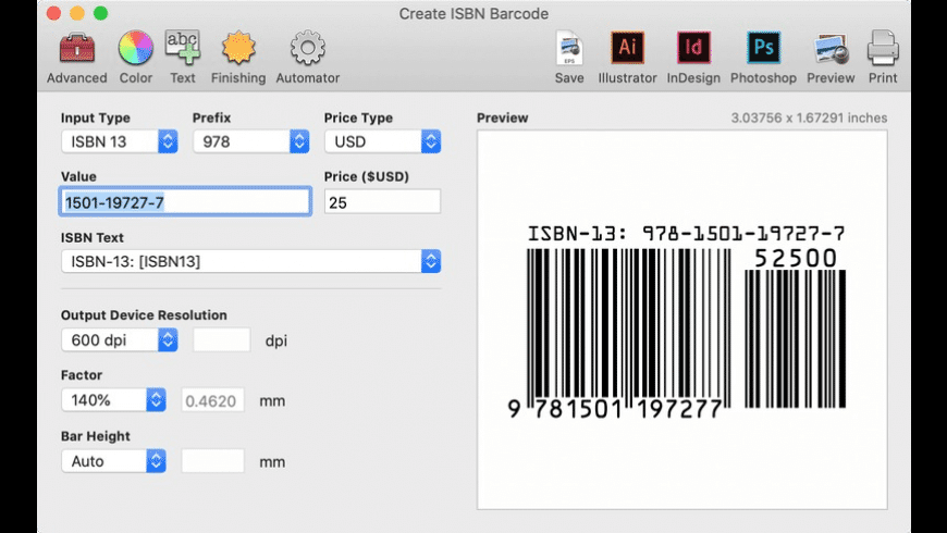 Barcode Producer for Mac - review, screenshots