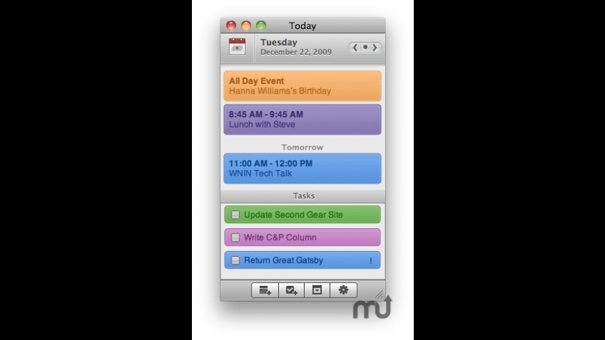 Today for Mac - review, screenshots