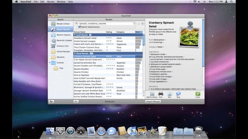 SousChef for Mac - review, screenshots