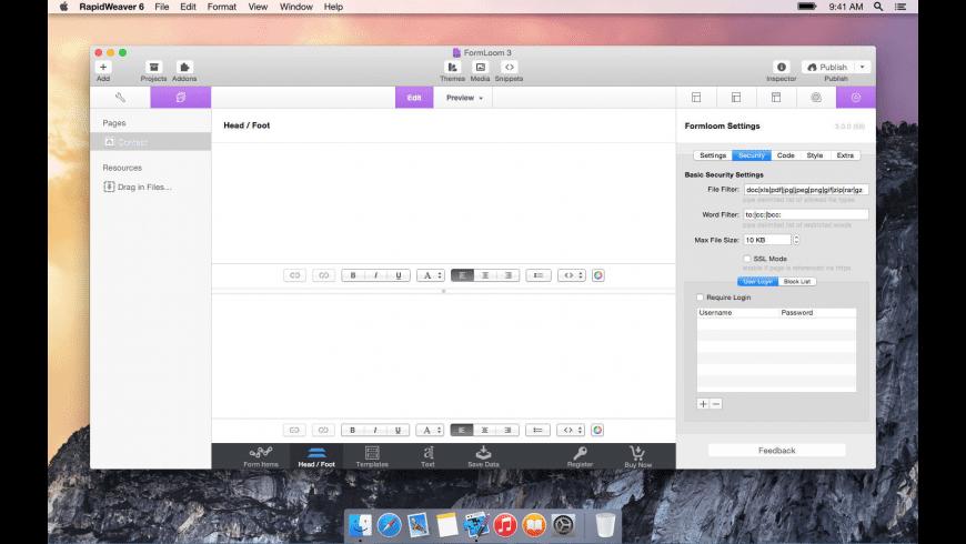 FormLoom for Mac - review, screenshots