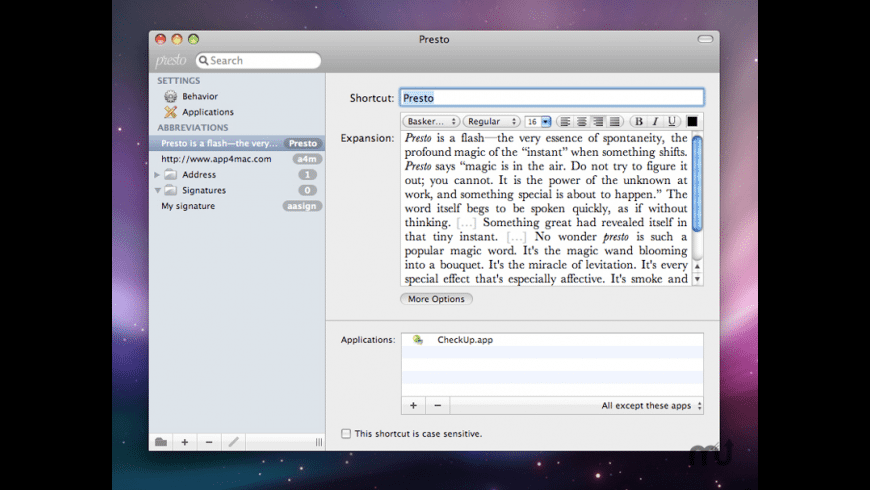 xType for Mac - review, screenshots