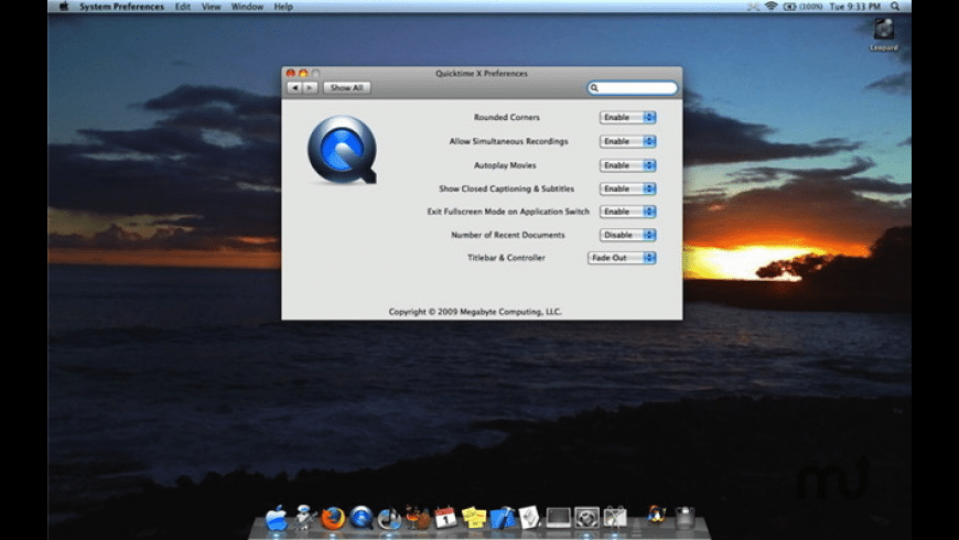 QuickTime Player X Preference Pane for Mac - review, screenshots