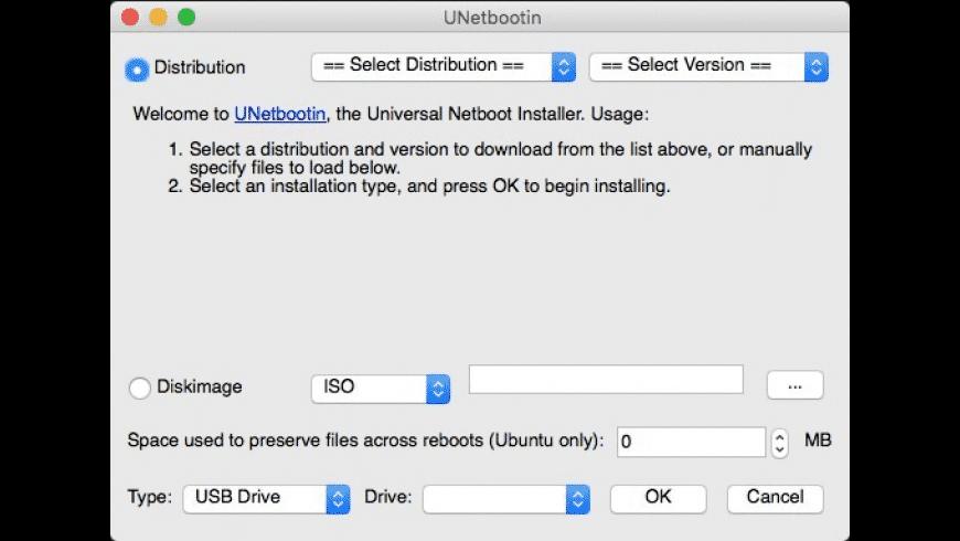 UNetbootin for Mac - review, screenshots