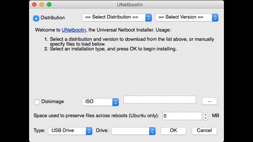 UNetbootin for Mac - review, screenshots