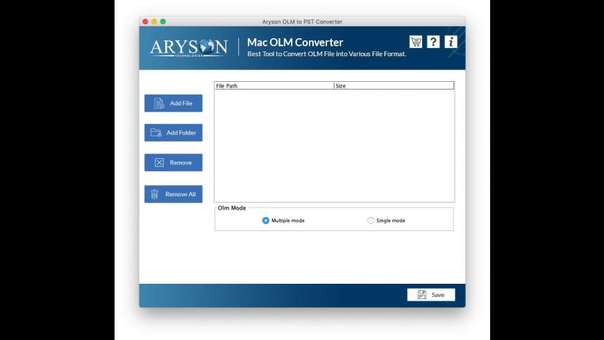 Mac OLM Converter for Mac - review, screenshots