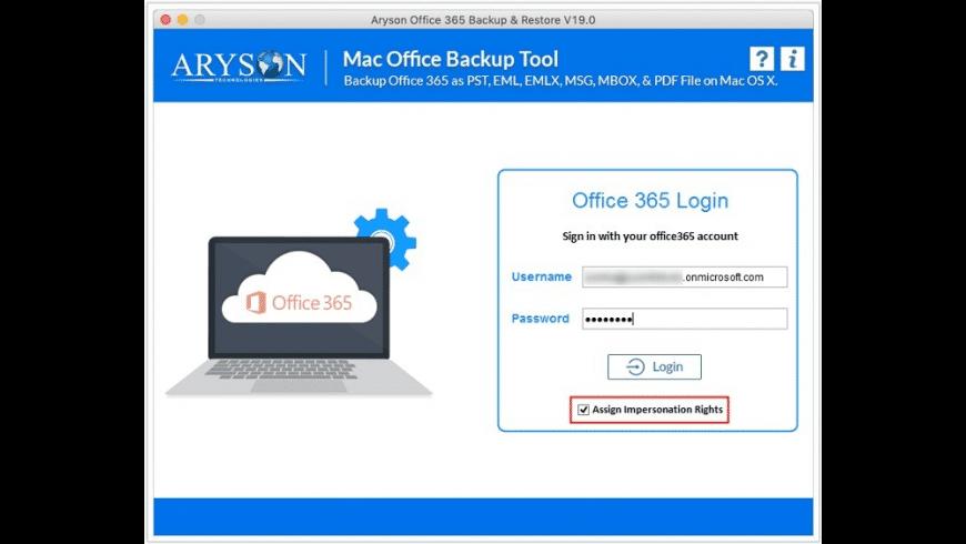 Aryson Mac Office 365 Backup Tool for Mac - review, screenshots