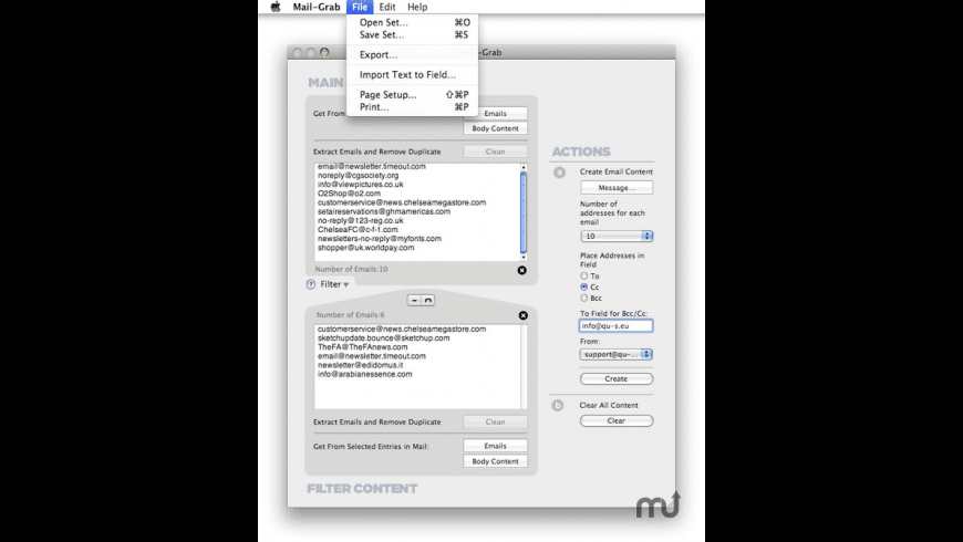 Mail-Grab for Mac - review, screenshots