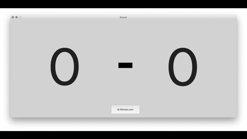 Scorer for Mac - review, screenshots